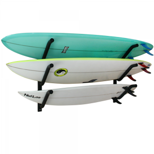 On-Rail Surfboard Wall Rack | indoor | pair